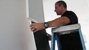 Getting The Aircon Filter Out to Clean - Air Conditioning Services